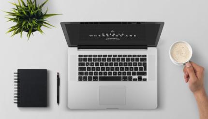 Webinar laptop desk